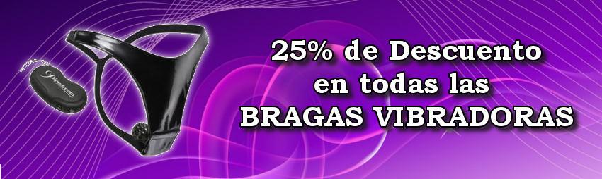 Oferta 25% de descuento en Bragas Vibradoras.