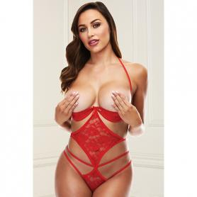 SHOW ME STRAPPY TEDDY RED - Imagen 1