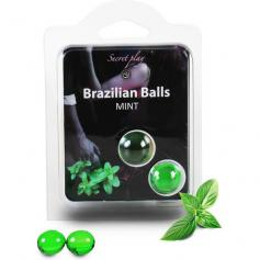SECRET PLAY SET 2 BRAZILIAN BALLS AROMA MENTA - Imagen 1