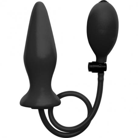 OUCH PLUG INFLABLE DE SILICONA NEGRO - Imagen 1
