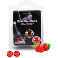 SECRET PLAY SET 2 BRAZILIAN BALLS AROMA FRESA - Imagen 1