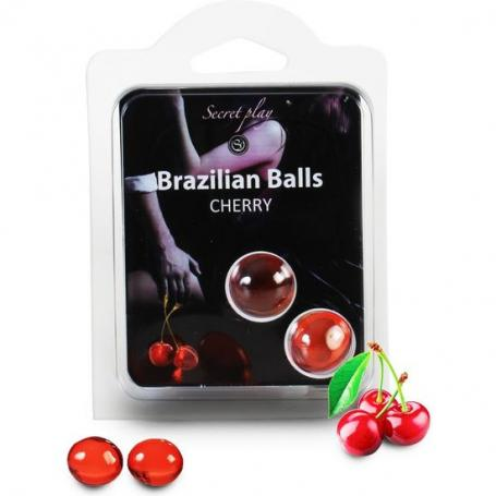 SECRET PLAY SET 2 BRAZILIAN BALLS AROMA CEREZA - Imagen 1