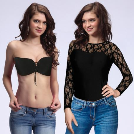 LIPS AND CHERRY SET BODY AND INVISIBLE BRA - Imagen 1