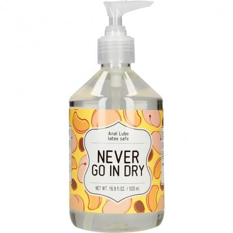 LUBRICANTE ANAL - NEVER GO IN DRY - 500 ML - Imagen 1