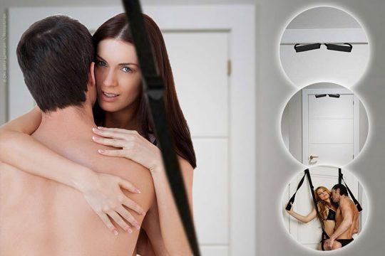 Instalación de un columpio sexual en una puerta